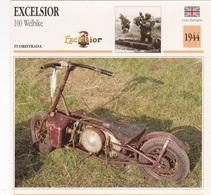 FUORISTRADA EXCELSIOR 100 WELBIKE GRAN BRETAGNA 1944 DESCRIZIONE COMPLETA SUL RETRO AUTENTICA 100% - Pubblicitari