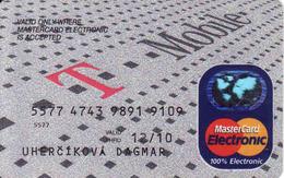 Credit Card Slovakia T Mobile, Magnetic MasterCard Electronic - Cartes De Crédit (expiration Min. 10 Ans)