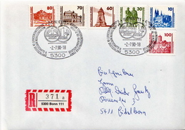 Postal History: Germany / Deutsche Post 2 Registered Covers Used In Bonn With Special Cancels - [7] Federal Republic