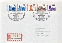 Postal History: Germany / Deutsche Post Registered Cover Used In Hannover With Special Cancel - [7] Federal Republic
