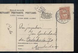 Amsterdam - Haarl PL 3 - 1913 Stempel - 1891-1948 (Wilhelmine)