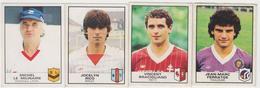 PANINI/ 4stickers Football1984,michel LE MILINAIRE (entraineur LAVAL) Jocelyn RICO (brest) Vincent BRACIGLIANO (metz) - French Edition