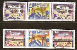 Cept 1994 Yougoslavie Yvertn° 2517-18 *** MNH Cote 11,00 Euro 2 Séries Avec Vignette - 1994