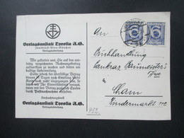 Österreich 1932 PK Der Verlagsanstalt Tyrolia Innsbruck Nr. 452 MeF Waagerechtes Paar Mit Perfin / Firmenlochung - 1918-1945 1ra República