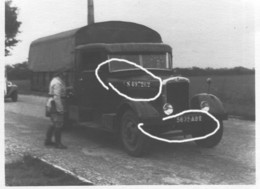 Armée Française PL Immatriculation Camion France 40 - Krieg, Militär