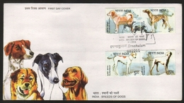 India  2005  Breeds Of Dogs 4v First Day Cover  # 20082  D  Inde Indien - Dogs