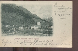 Zwitserland Schweiz Suisse - Vicosoprano - Albergo Maurizio Corona E Posta - 1903 - Zonder Classificatie