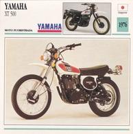 MOTO FUORISTRADA YAMAHA XT 500 GIAPPONE 1976 DESCRIZIONE COMPLETA SUL RETRO AUTENTICA 100% - Pubblicitari