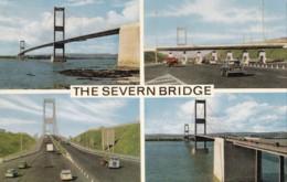 AM34 The Severn Bridge Multiview - Vintage Cars, Truck - Wales