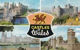 AM34 Castles Of Wales - Multiview Postcard - Wales