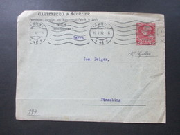 Österreich 1912 Privater Ganzsachen Umschlag Firmenbrief Gartenberg & Schreiner Petoleum, Paraffin In Jaslo Wien I - Briefe U. Dokumente
