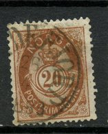 1882 Norway 20o Post Horn Issue #43 - Norway