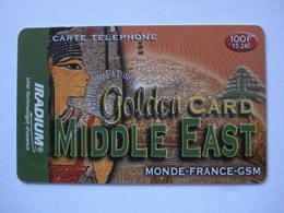 """Carte Prépayée Française  """" IRADIUM """" (utilisée). - Cellphone Cards (refills)"""