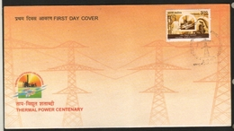 India  1999  Thermal Power Centenary  First Day Cover  # 20084  D  Inde Indien - Electricity