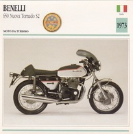 MOTO DA TURISMO BENELLI 650 NUOVA TORNADO S2 ITALIA 1973 DESCRIZIONE COMPLETA SUL RETRO AUTENTICA 100% - Pubblicitari