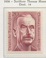 PIA - GERMANIA - 1956  : Anniversario Della Morte Dello Scrittore Thomas Mann -   (Yv 113) - Nuovi