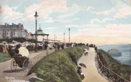 AO76 The Lees, Folkestone - 1904 Postcard, Animated, Ladies With Parasols - Folkestone