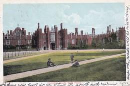 AO76 Hampton Court, West Front - 1903 Undivided Back Postcard - London Suburbs