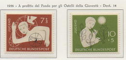 PIA - GERMANIA - 1956  : A Profitto Del Fondo Per Gli Ostelli Della Gioventù  -   (Yv 111-12) - Nuovi