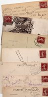 FRANCE..TIMBRE TYPE SEMEUSE CAMEE...15c BRUN LILAS......LOT DE 48 SUR CPA....VOIR SCAN......LOT 2 - 1906-38 Semeuse Camée
