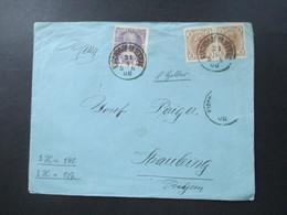 Österreich 1908 Nr. 140 MiF Mit Nr. 121 Als Waagerechtes Paar Stempel Kirchdorf Ob. Oesterr. Korkenfabrik - Briefe U. Dokumente
