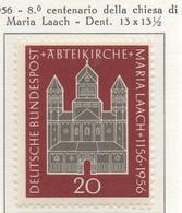 PIA - GERMANIA - 1956  : 800° Anniversario Della Chiesa Di Maria Laach -   (Yv 114) - Nuovi