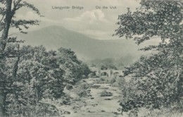 AO77 Llangynidr Bridge, On The Usk - 1907 Postcard - Breconshire
