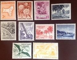 Christmas Island 1963 Definitive Set Birds Crabs MNH - Christmas Island