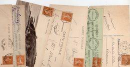 FRANCE..TIMBRE TYPE SEMEUSE CAMEE...25c JAUNE BRUN.....LOT DE 48 SUR CPA....VOIR SCAN......LOT 4 - 1906-38 Semeuse Camée