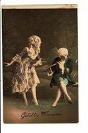 CPA - Carte Postale -Pays Bas- Gelukkig Nieuwjaar Un Couple En Tenue D'époque VM3888 - Nieuwjaar