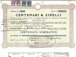 Italia - Centenari Zinelli - Azioni & Titoli