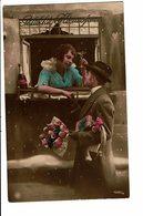 CPA - Carte Postale -Pays Bas- Couple Se Parlant Au Travers D'une Fenêtre-1924- VM3889 - Koppels