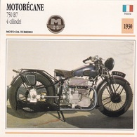 MOTO DA TURISMO MOTOBECANE 750 B7 4 CILINDRI FRANCIA 1930  DESCRIZIONE COMPLETA SUL RETRO AUTENTICA 100% - Pubblicitari