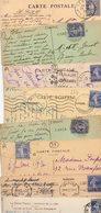 FRANCE..TIMBRE TYPE SEMEUSE CAMEE...40c OUTREMER.......LOT DE 48 SUR CPA....VOIR SCAN......LOT 6 - 1906-38 Semeuse Camée