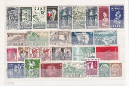 Saarland - Sammlungsreste - Ungebr./Gest. - 1. - 1947-56 Allierte Besetzung
