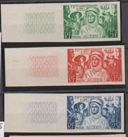 ALGERIE NON DENTELE   N° 276 à 278      YVERT 75° ANNIVERSAIRE DE L'U P U - Algérie (1924-1962)