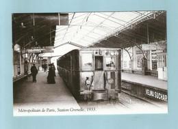 Paris 1933 Métro Station Grenelle - Métro