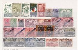Saarland - Sammlungsreste - Ungebr./Gest. - 3. - 1947-56 Allierte Besetzung