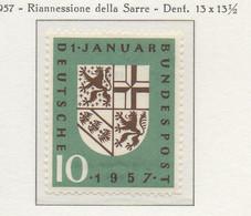 PIA - GERMANIA - 1957  : Riannessione Della Sarre  -   (Yv 125) - Nuovi
