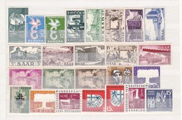 Saarland - Sammlungsreste - Ungebr. - 4. - 1957-59 Bundesland