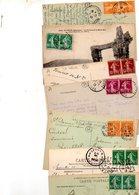 FRANCE..2 TIMBRES SEMEUSE CAMEE IDENTIQUES.....LOT DE 100 SUR CPA....VOIR SCAN......LOT 12 - 1906-38 Semeuse Camée