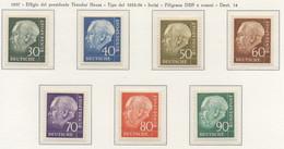 PIA - GERMANIA - 1957 - Effige Del Presidente Theodor  Heuss - (Yv 125A-28B) - Nuovi