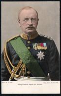 C6727 - König Friedrich August Von Sachsen - Abzeichen Orden Medaillen - Klinkhardt & Eyssen Dresden - Trenkler & Co - Hombres Políticos Y Militares