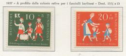 PIA - GERMANIA - 1957 - A Profitto Delle Colonie Estive Per I Bambini Berlinesi - (Yv 129-30) - Nuovi