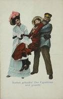 """""""Beruf, Postbote,Alkohol, Betrunkene Frau"""" 1900 Aus Hamburg ♥ (3689) - Berufe"""