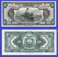 Ecuador 50  Sucres 1928 - Ecuador