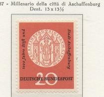 PIA - GERMANIA - 1957  : Millenario Della Città Di Aschaff  -   (Yv 134) - Nuovi