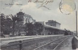 SAN REMO - 1910 - Stazione (Station Statie Gare Bahnhof) - Treno Vapore Stoom Locomotief - San Remo