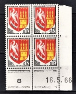 FRANCE 1962 - BLOC DE 4 TP / Y.T. N° 1353A - NEUFS** COIN DE FEUILLE / DATE - 1960-1969
