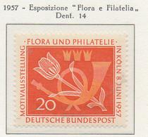 """PIA - GERMANIA - 1957  : Esposizione """"Flora E Filatelia"""" A Colonia  -   (Yv 133) - Nuovi"""